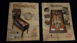 1x Lord of The Rings - Stern Pinball ORIGINAL NOS Promotional Advertising Flyer