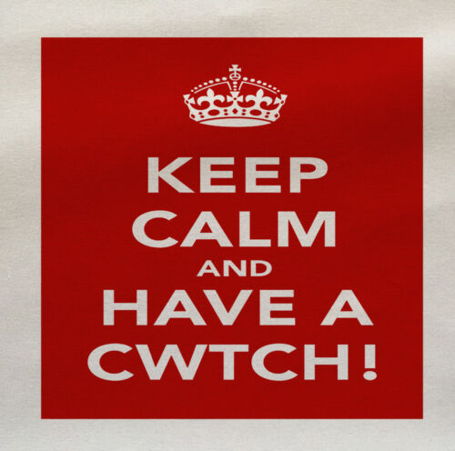 Keep Calm Gallese cwtch-Stampato In Tessuto Pannello di fare un Cuscino Tappezzeria Craft