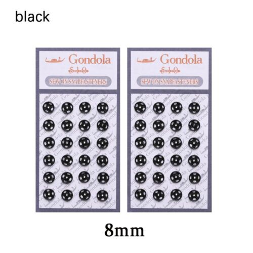 48Pcs Mini Button Buckle for 1//6 Doll DIY Clothes Metal Buckle Invisible Snap us