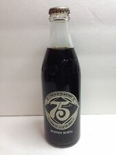 COCA-COLA 1977 COLLECTIBLE GLASS COKE BOTTLE 10OZ. 75 YEARS LOUISIANA BOTTLING