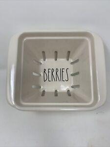 Rae-Dunn-LL-BERRIES-Fruit-Basket-Bowl-Farmhouse-Storage-NWT