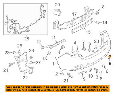 MAZDA OEM 14-17 6 Rear Bumper-Tow Hook Eye Cap Cover Right G4YL50EK127