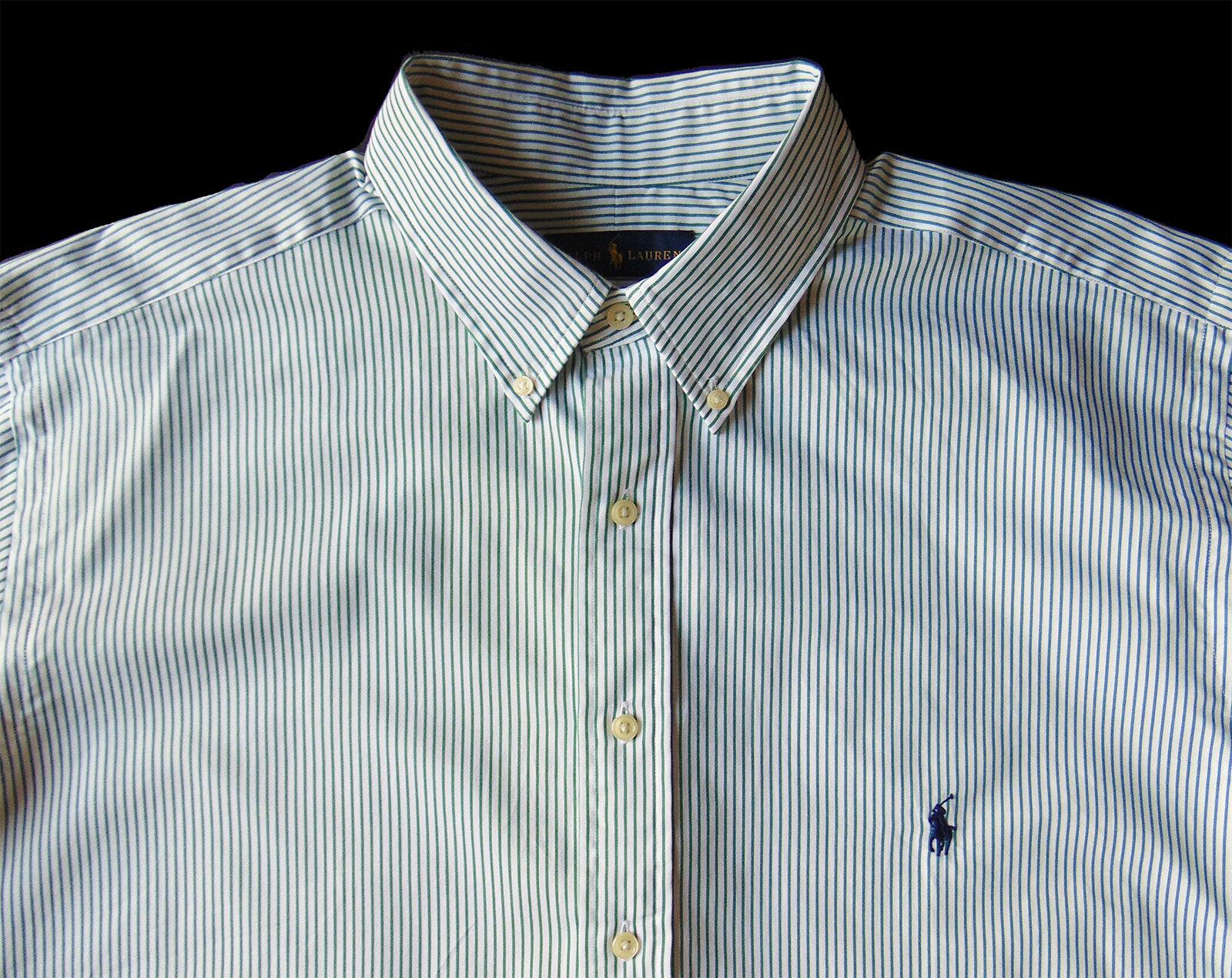903d906644 Men's RALPH LAUREN Stripe Striped Shirt 2XB 2X BIG NWT NEW Nice ...