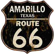 Route 66 Vintage Red And Blue Cut Out Garage Shop Metal Sign 7.5x7.5