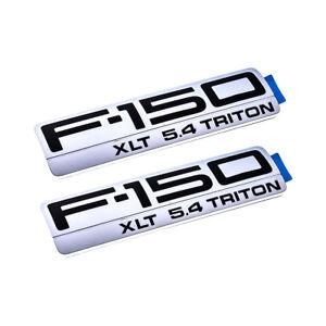 NEW OEM 2004-2008 F-150 XLT 5.4 Triton Chrome Fender Emblems Badges