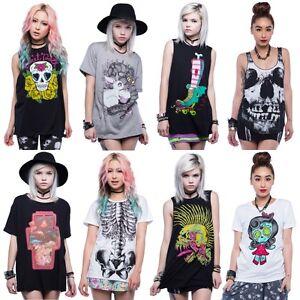 IRON-FIST-T-Shirt-DONNA-Tee-NEW-Womens-MAGLIETTA-Nuova-TANK-Canotta-PUNK-Varie