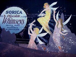"""1920 Courtiers De échantillon De """"sorica"""" Chocolat Box Cover Avec éblouissante Fées *-afficher Le Titre D'origine 22p8b1en-08003815-473779141"""