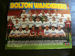 TEAM GROUP PHOTO POSTER  FOTO DEL EQUIPO  BOLTON WANDERERS 199495 BY MATCH - <span itemprop='availableAtOrFrom'> Hertfordshire, United Kingdom</span> - TEAM GROUP PHOTO POSTER  FOTO DEL EQUIPO  BOLTON WANDERERS 199495 BY MATCH -  Hertfordshire, United Kingdom