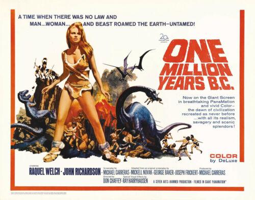 """/"""" eine Million Jahre C /"""" Raquel Welch Retro Filmposter A1 A2 A3 A4 Größen"""