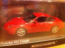 PORSCHE 911  CARRERA COUPE 1998 TYPE 996 1/43 MINICHAMPS  RED
