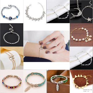 Charm-Women-Ladies-Crystal-Gold-Silver-Plated-Bangle-Cuff-Bracelet-Jewelry-Gift