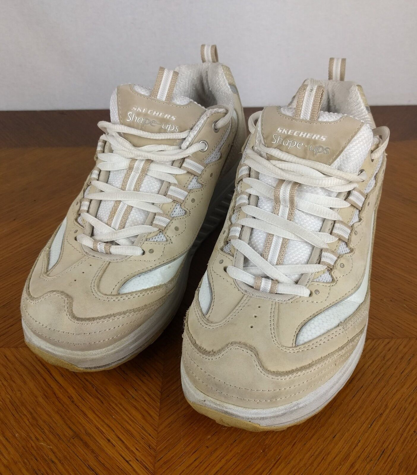 Skechers Tan Shape Ups shoes Size Women's 8.5 Walking Athletic Sneakers Beige