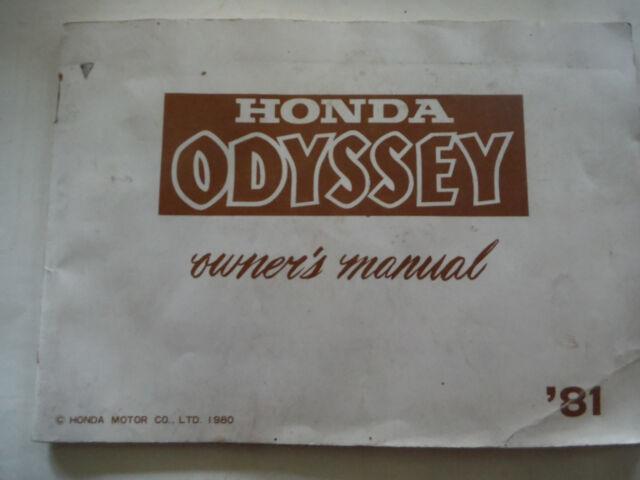 Original 1981 Honda Odyssey Fl250 Atv Owners Manual