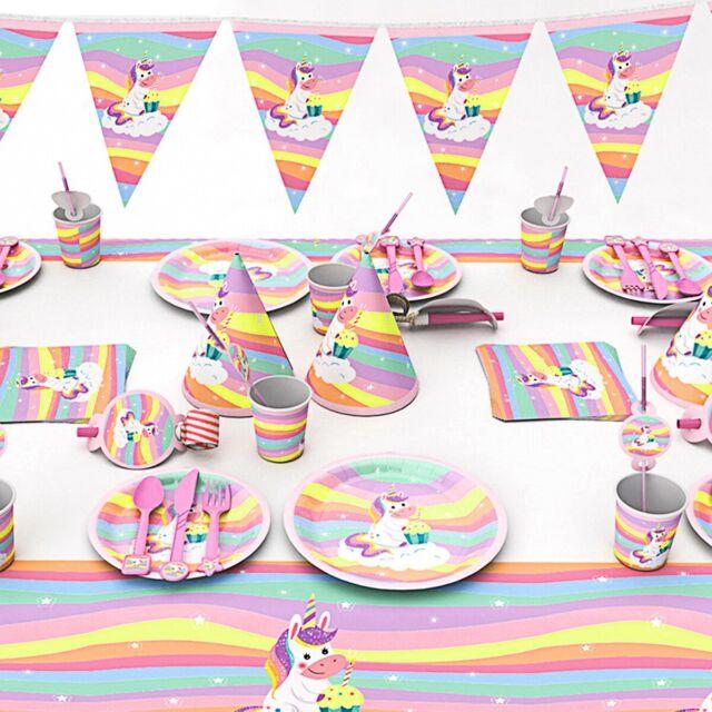 Unicorn Happy Birthday Banner Rainbow Unicorn Themed Party Decor Supplies HLD8