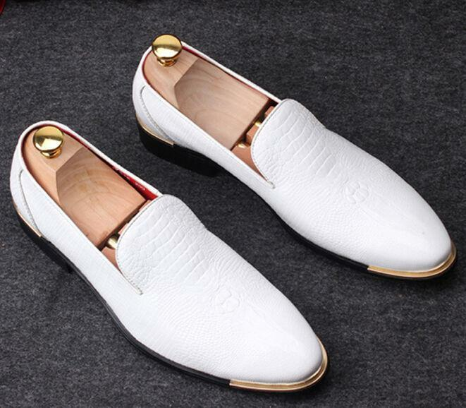 Fashion Mens Wedding Slip On Pointy Toe Casual Dress formal loafer shoes size