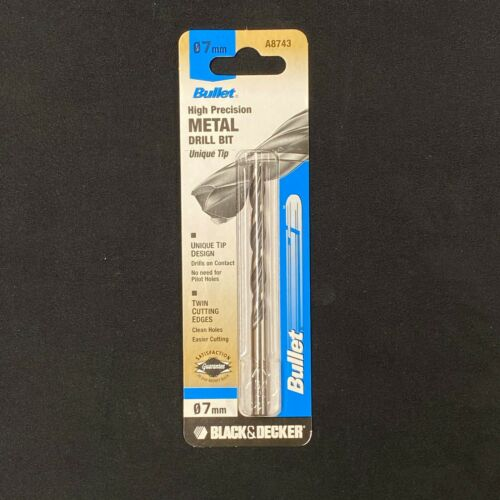 Black /& Decker HSS High Precision Bullet Tip Metal Drill Bits Made in Germany