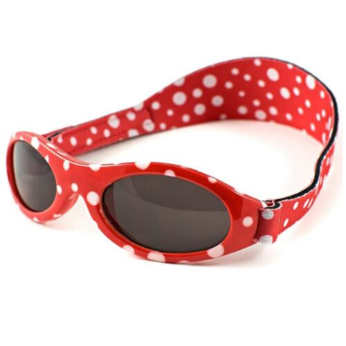 Baby Banz Adventurer Sunglasses 100% UVA/UVB Protection (Ages 0-2yrs) Red Dot