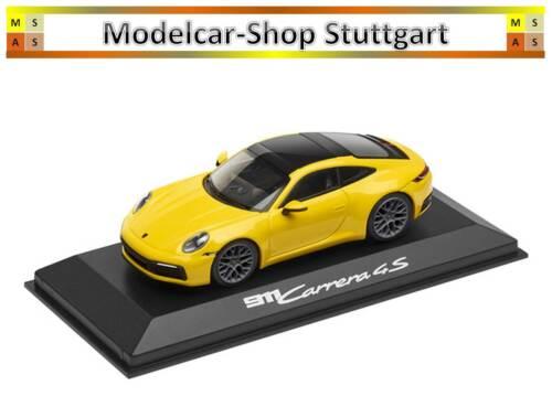 Porsche 911 carrera 4s Coupe racing amarillo 2018 Minichamps 1:43 wap0201720k nuevo