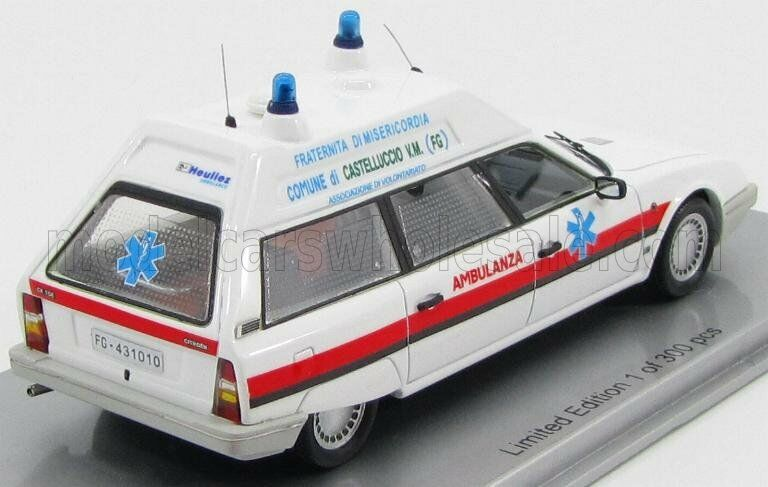 Wonderful modelcar CITROEN CX TGE Break Break Break Ambulance Fraternita Misericordia Foggia 19d9e7