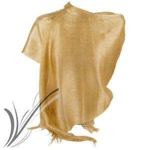 nuovo stile 3ea96 4f50c Dettagli su Stola oro elegante cerimonia lurex donna ragazza coprispalle  rete foulard estivo