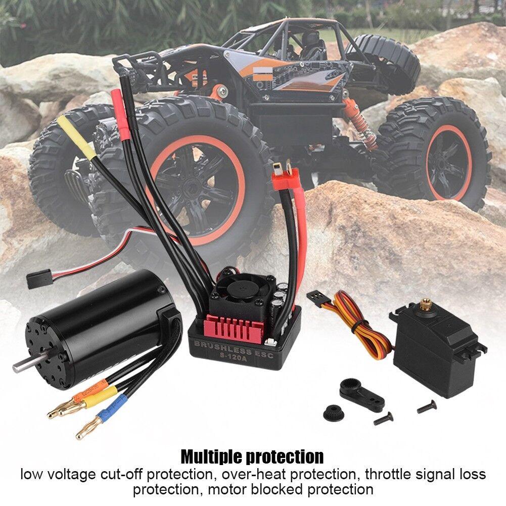 Surpass 4068 2050KV Brushless Motor 120A ESC 9kg Servo Combo Set for 1 8 RC Car