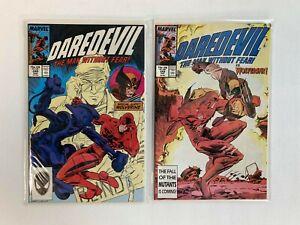 Daredevil-Lot-of-2-Comics-Issues-248-249-Marvel-1987-1st-app-of-Bushwacker