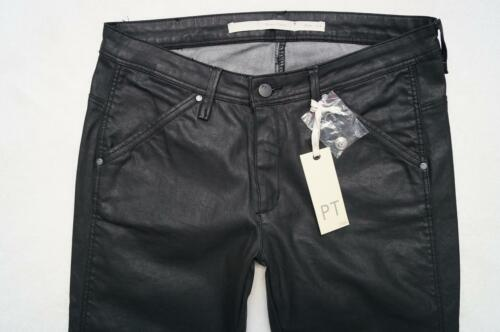 Gr 38 Slim Enna Part Neu 32 Lederlook Fit JeansHose L Two Schwarz f7yvY6gImb