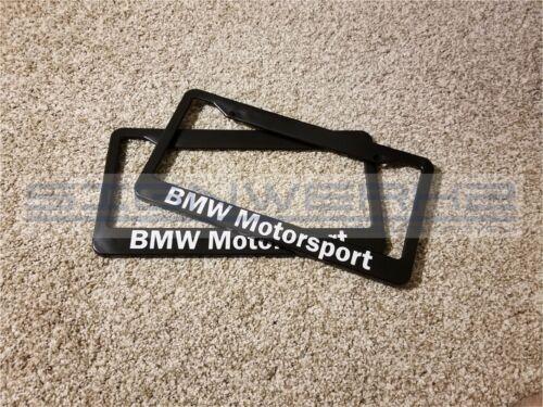 Pair BMW Motorsport BMW License Plate Frame