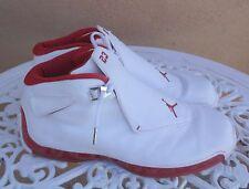 2003 Jordan XVIII 305869 161 White/Varsity Red Basketball Shoes Sz 14
