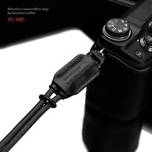 Gariz-New-Black-leather-Wrist-strap-XS-WB1-for-m4-3-NEX-XF-Mirrorless-camera