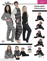 Jalie Pajamas For Men, Women, Children Footed Or Ribbed Cuff Sewing Pattern 3244