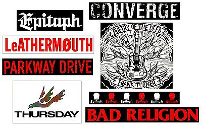 CONVERGE PARKWAY DRIVE BAD RELIGION THURSDAY RARE Stickers Lot! Punk Metal Rock