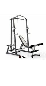 Marcy Pro Deluxe Cage System And Lift Bench And Olympic Barbell💪🔥