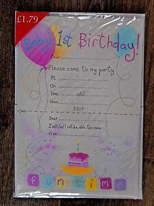 Das Bild Wird Geladen 20 X Baby 1ST Geburtstag Laedt Mit Umschlaegen