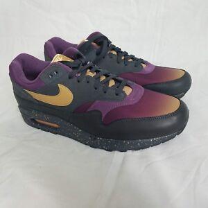 ff0368b621 Nike Air Max 1 Mens Premium Fade Pack 875844-002 Anthracite Purple ...