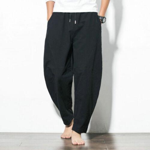 Men/'s Drawstring Harem Pants Trousers Casual Joggers Sports Comfort Sweatpants