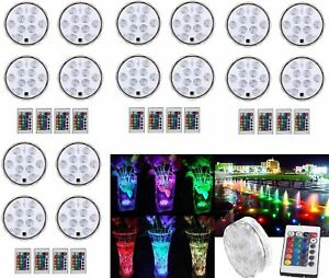 Lot-Swimming-Pool-Light-RGB-LED-Bulb-Remote-Control-Underwater-Color-Vase-Decor