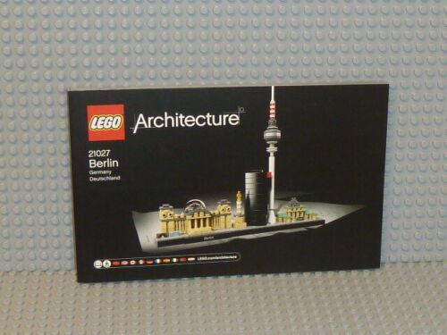 LEGO ® Architecture recipe 21027 Berlino instruction b3501