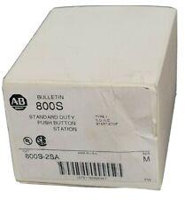 New Listingnib Allen Bradley 800s 2sa Ser M Push Button Station 800s2sa