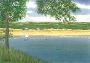 Oxwich Bay Landscape, Gower, Swansea - Greetings Card - Tony Paultyn