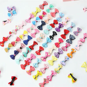 10Pcs-Kids-Boy-Girl-039-s-Bow-Ribbon-Hair-Bow-Mini-Latch-Clips-Hair-Clip-Hairpins