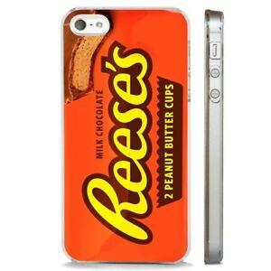 Dettagli su Reeses Peanut Butter Chocolate chiaro Telefono Custodia Cover si adatta iPHONE 5 6 7 8 X- mostra il titolo originale