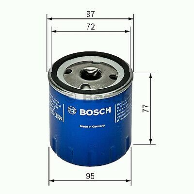 1x bosch Filtro de Aceite P7024 F026407024 [4047024287143]
