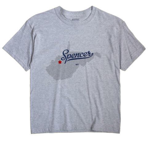 Spencer West Virginia WV WVa T-Shirt MAP