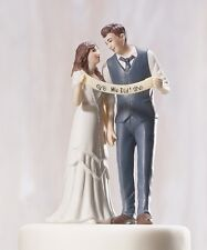 Indie Retro Vintage Style Wedding Cake Topper Romantic HAIR COLOR CUSTOMIZATION