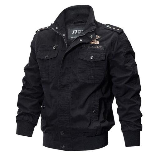 Jacket MA-1 Cargo Pilot Mens Military Cool Coats Bomber Flight Jackets Outwear