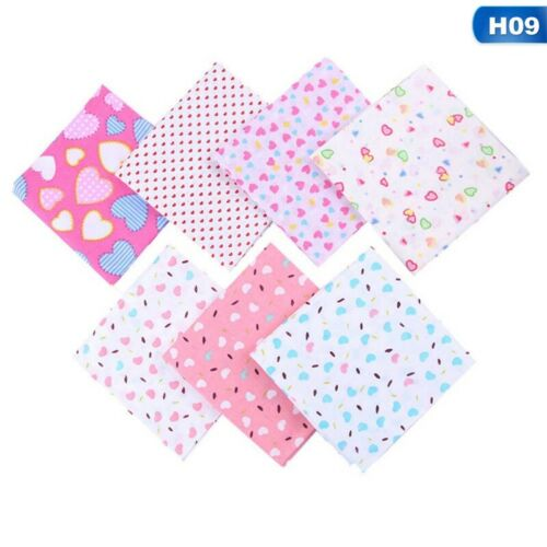 7Pcs DIY 25*25cm Mixed Pattern Cotton Fabric Sewing Quilting Patchwork Crafts US