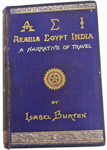 1879-Isabel-Sir-Richard-F-Burton-AEI-ARABIA-EGYPT-INDIA-VERY-RARE-BOOK
