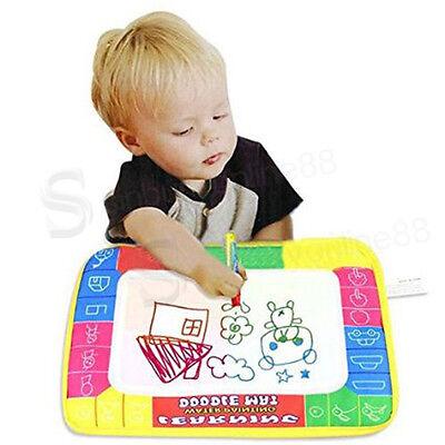 UK Kids Water Scrawl Mat Drawing Painting Magic Pen for Baby Toddler Toys Gifts
