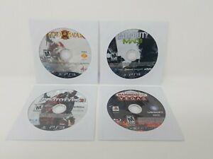 Playstation-3-PS3-4-Game-Lot-Disc-Only-In-Sleeves-Prototype2-God-of-War-III